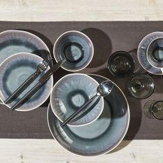 Bambou+-+Assiette+à+dessert++en+porcelaine+iris+(+par+2)