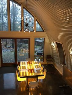 Quonset Hut Home | Beautiful shot capturing the arch style o… | Flickr