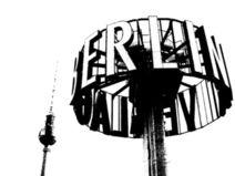 BERLIN* (ab) 24x18cm echter LEINWAND KUNSTDRUCK