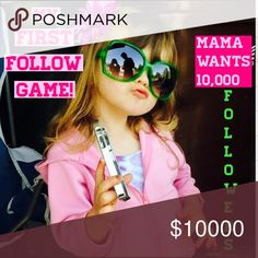 I'm SOOOOOO Close! 😁😁😁 Hello Poshers! I've been playing the follow games for a bit and love seeing all of our numbers grow. I'm getting closer and closer to 10,000 followers and thought now is the perfect time to try my very own Follow Game for that final PUSH! Please follow me, like & share this listing, and finally follow everyone else who has liked the listing- don't forget to come back and check for new likes. It's something easy we can do to help each other out while growing our own…