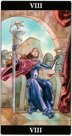Justice - Tarot of the Dream Enchantress Justice Tarot, Celtic Druids, Le Tarot, Major Arcana, Oracle Cards, Book Of Shadows, Tarot Decks, Tarot Cards, Youtube