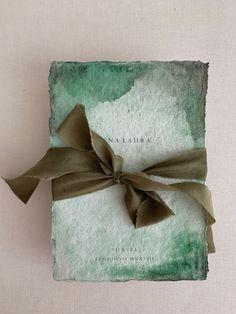 Watercolor Invitations, Invitation Paper, Custom Stationery, Wedding Stationery, Green Palette, Wedding Invitation Inspiration, Diy Canvas Art, Paper Cards, Diy Flowers