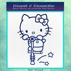 Hello Kitty Pogo Stick Decal Sticker Love Hearts Star Money Ladies Chicks Sports