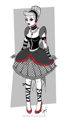 Gothic Disney- Cinderella by ~skullyan on deviantART