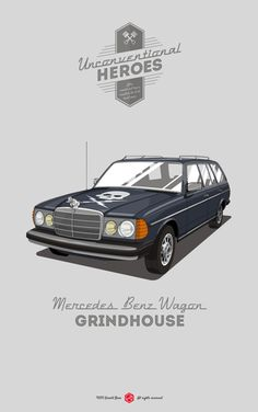 All the cars in this series are awesome but THIS is my favorite! #UnconventionalHeroes by Gerald Bear, via Behance