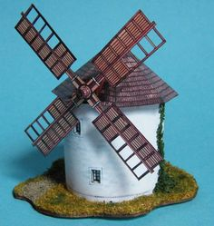 Windmill Ver.7 Free Building Paper Model Download - http://www.papercraftsquare.com/windmill-ver-7-free-building-paper-model-download.html#BuildingPaperModel, #Windmill