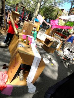 """Love the concept of """"Pop Up Adventure Play"""" and using loose parts on the playground!"""