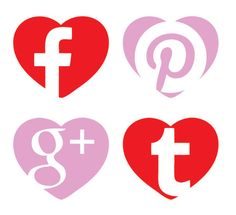 Celebrating Valentines Day, here are some free Hear-shaped Flat Social Media Icons For 2014 - PrintKEG Blog