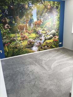 3D behang dieren in het bos. Leuk voor de jongenskamer. Slaapkamer idee voor een jongen. Kids, Painting, Art, Young Children, Art Background, Children, Painting Art, Kid, Kunst