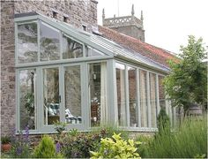 Exterior from high lean to winter garden, Exterior from high lean to conservatory You are free to share… What Is A Conservatory, Conservatory Kitchen, Curved Pergola, Pergola Kits, Pergola Lighting, Pergola Ideas, Greenhouse Attached To House, Porch Greenhouse, Gardens