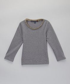 This Heather Gray Leopard Ruffle Tee is perfect! #zulilyfinds