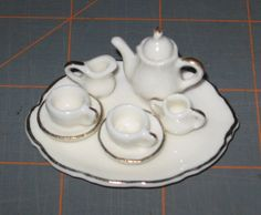 Teeny Tiny Tea Set  Bone China Japan  by NewEnglandYesterdays