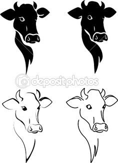 basic shape of cow head