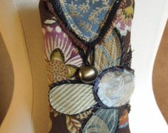 Shabby Chic CROSSBODY Bag Upcycled HIP Bag by WhimsyEyeDesigns