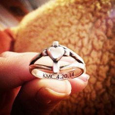 We love how this James Avery customer engraved her confirmation date on the inside of her Cross with Heart Ring. #JamesAvery