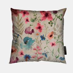 Möbelsammet offwhite m blomma - STOFF & STIL