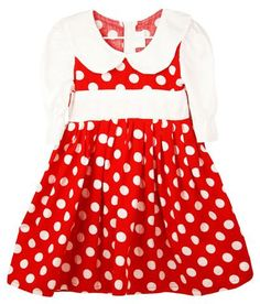 Look what's NEW! Red With White Polka Dot Dress With White Sleeves & Collar $10.00  http://thatguysoverstock.com