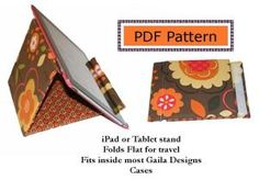 Download FREE iPad or Tablet Stand Sewing Pattern Sewing Pattern | Gail Seymour | YouCanMakeThis.com