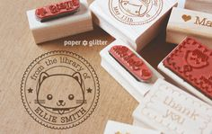 01_kitty cat pet birthday party favor decoration rubber stamp personalized stationery gift wood mount mounted cute kawaii kids children ideas crafty paper crafts scrapbook school text kawaii print crafty name icon ink inking letters