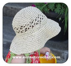 Daisy Stitch Summer Straw Hat Crochet Pattern @Rosemary Joles - This one is fun too!!