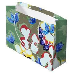 #country - #Floral Abstract Pattern Large Gift Bag