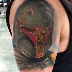 Boba Fett by @samfiorinotattoos #inkedmag #freshlyinked #art #tattoos #tattoo #inked #ink