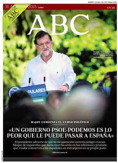La portada de ABC del lunes 31 de agosto