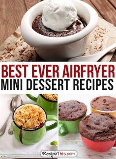 Airfryer Recipes | best ever Airfryer Mini Dessert Recipes from RecipeThis.com
