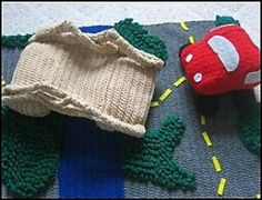 Download Chunky Car, Chunky Bridge and Road Play Mat Set Sewing Pattern | Crochet/Knitting Downloadable Sewing Patterns | YouCanMakeThis.com