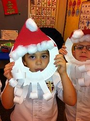 Mrs. Drake's room- Christmas great paper plate craft