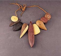 Necklace |  Alexander Calder.  c. 1940  Wood and leather