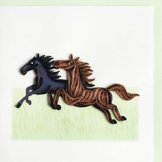 Horses-Product Image - Quilled by: Unknown Quiller