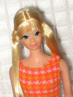 1970 Mod Barbie Doll Twist'n Turn TNT P.J. Pj + 1971 Outfit Poncho Put-on #3411*