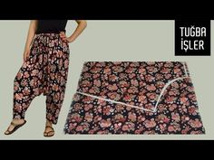 Very Easy Shalwar Cutting and Sewing | Tuğba İşler - YouTube
