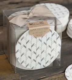 Chevron Letterpress Coasters 50-Pack by Ruff House Art on Scoutmob Shoppe - want!