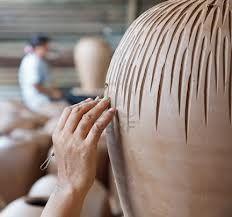 cool textured ceramic pot
