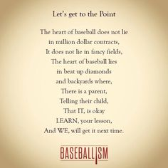 Baseball....it's got to start somewhere in the heart...of both the child and the parent :)
