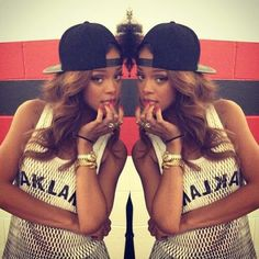 Rihanna, clothes, jewelry, hair