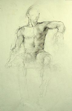 Seated Male Nude (2008). Vivian van der Merwe
