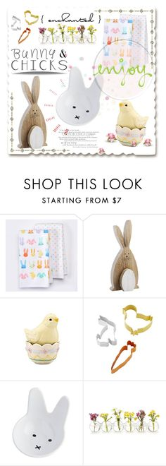 """Bunnies & Chicks"" by jessinerio4l ❤ liked on Polyvore featuring interior, interiors, interior design, home, home decor, interior decorating, Lenox, Williams-Sonoma and bunnieschicks"