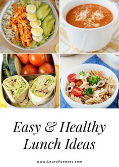 Save time meal planning this week by checking out these healthy and easy lunch recipes! #Lunchtime Salad Dressing Recipes, Pasta Salad Recipes, Soup Recipes, Greek Chicken Salad, Asian Chicken Salads, Cold Lunches, Prepped Lunches, Home Lunch Ideas, Health Lunches