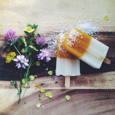 Mango Coconut Popsicles | Kirsten Rickert