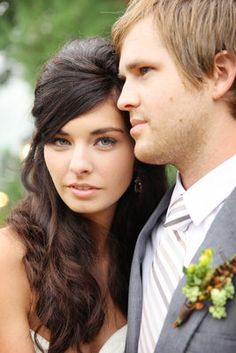Rustic, Autumn, Chocolate Brown Wedding - Hair,  Long,  Curly