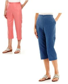 f5f51027fdf Alfred Dunner women s Capris Paradise Island solid petites size 12P