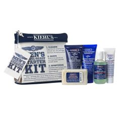 Don't forget the man in your life. Kiehl's makes an awesome men's travel starter kit that contains five best-selling male skincare items. http://makeitbetter.net/better-you/fashion-and-beauty/5677-2013-gift-guide-beauty