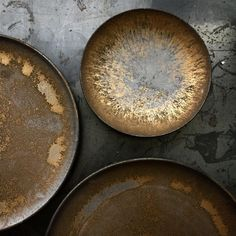from - Gold bowl. Ceramic Plates, Ceramic Pottery, Ceramic Art, Geometric Side Table, Black Clay, Pottery Classes, Jewelry Dish, Pottery Painting, Earthenware