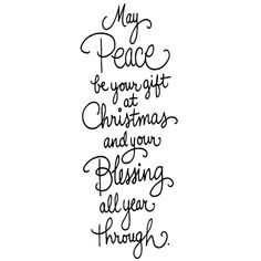 Cling Stamp, Christmas Peace