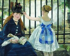 Édouard Manet (French 1832–1883) The Railway, 1873. Oil on canvas, 36 3/4 x 43 7/8 in (93.3 × 111.5 cm). National Gallery of Art, Washington, DC.