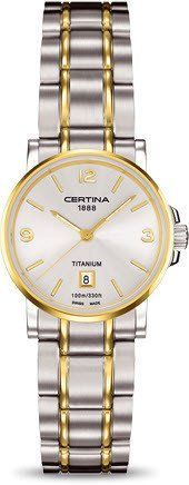Certina Watch DS Caimano Lady Quartz #bezel-fixed #bracelet-strap-titanium #brand-certina #case-material-titanium #case-width-27mm #date-yes #delivery-timescale-7-10-days #dial-colour-silver #gender-ladies #luxury #movement-quartz-battery #official-stockist-for-certina-watches #packaging-certina-watch-packaging #style-dress #subcat-ds-caimano #supplier-model-no-c017-210-55-037-00 #warranty-certina-official-2-year-guarantee #water-resistant-100m