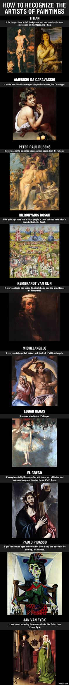 Funny And Useful Ways To Learn The Differences Between Famous Artist